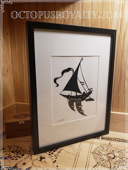 """'The Tommy Dhow' - 11""""x17"""" Cut Paper"""