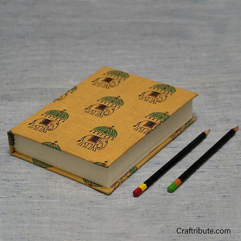 Handmade Paper Notebook -Elephant design