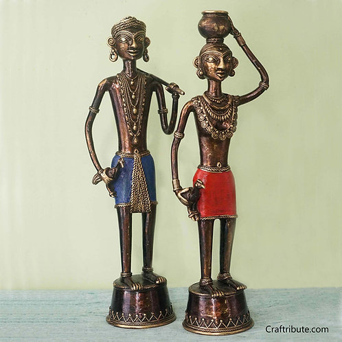 Dhokra Tribal Couple - Medium