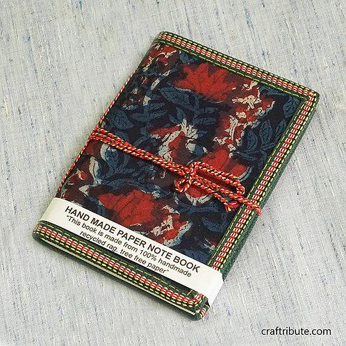 Deep Blue & Red Floral Design