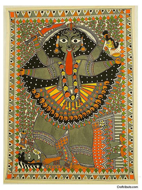 Madhubani Painting -Maa Kali
