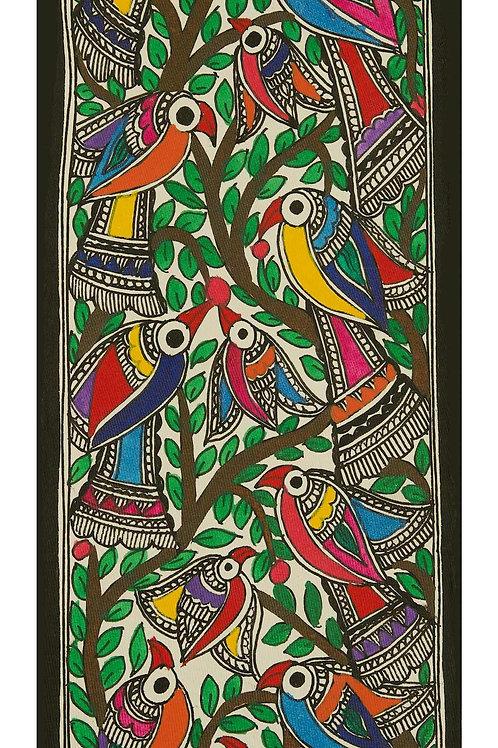 Madhubani Painting - A Bird story