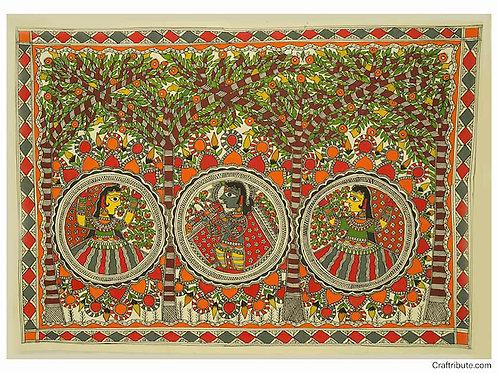Madhubani Painting -Gopi Krishna