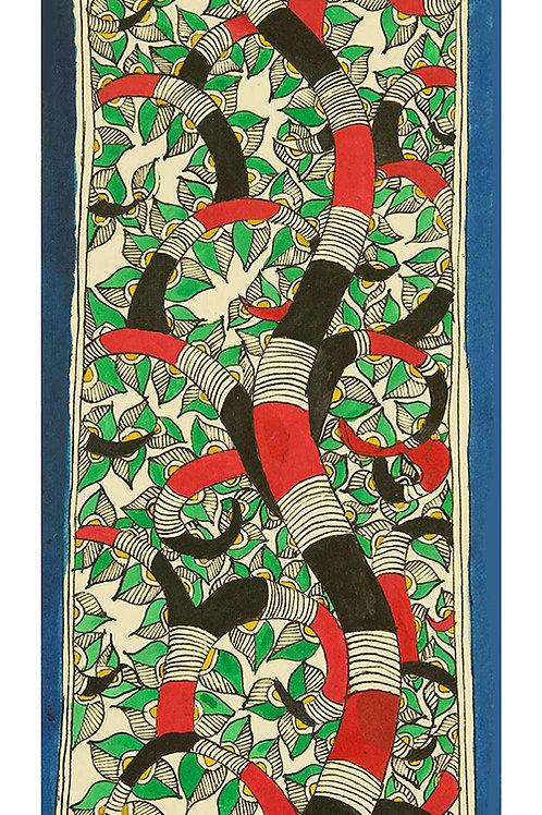 Madhubani - Tree (Red and Black)