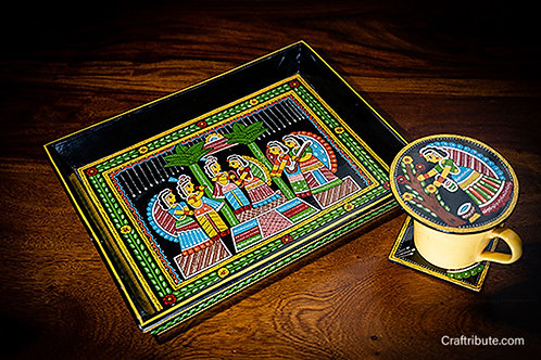 Tikuli hand painted tray