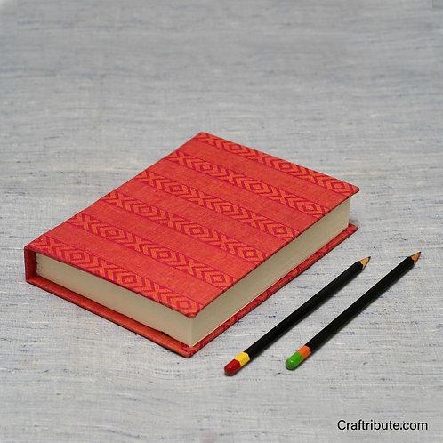 Handmade Paper Notebook - Red