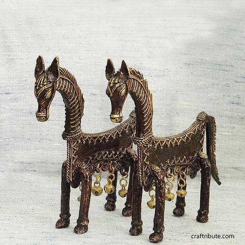 Dhokra Decorative Horse Pair