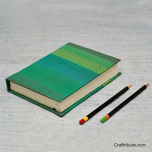 Handmade Paper Notebook - Bottle Green