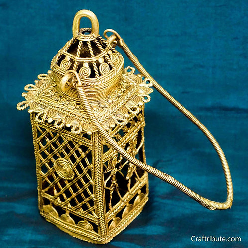 Dhokra Brass Lamp