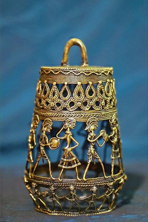 Dhokra Brass Lamp - Large Lalten