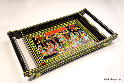 Tikuli art hand painted serving tray