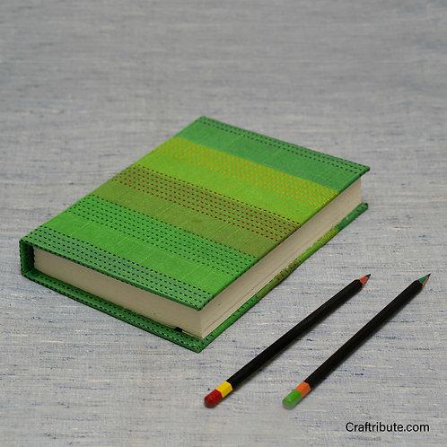 Handmade Paper Notebook - Parrot Green