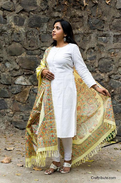 Madhubani Banglore Silk Dupatta