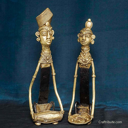 Dhokra Figurines - Tribal Couple