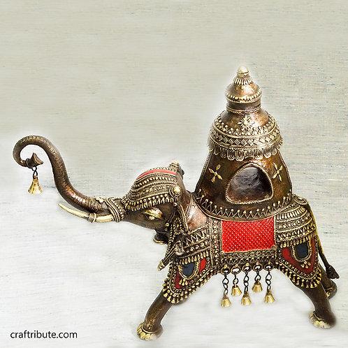 Dhokra Royal Elephant with Howdah