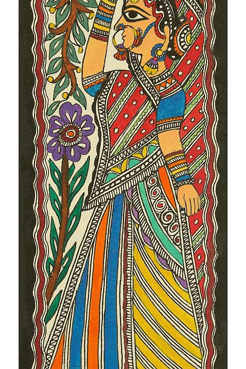Madhubani Painting - Gopi