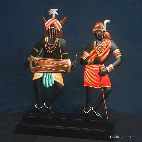 Dancing Tribal Couple