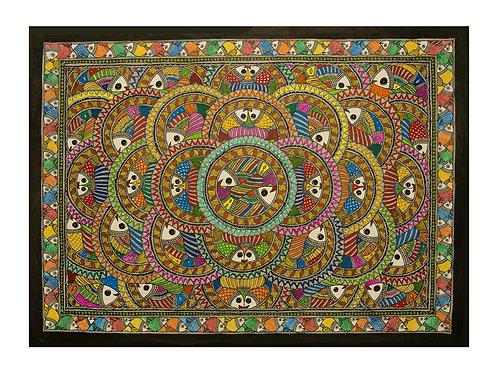 Madhubani Painting -Matsya Mandala