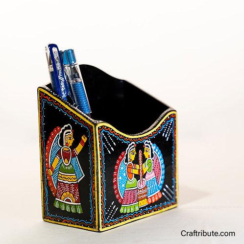 Tikuli Art - Pen stand/Tissue Holder
