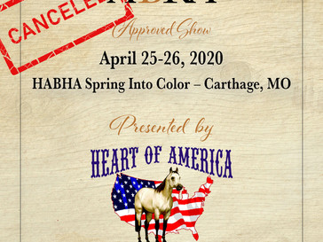 CANCELED-HABHA Spring Into Color Show- Approved ABRA Show April 25-26!