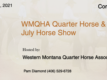 July 31 - Aug 1 ABRA Approved  Horse Show in Corvallis, MT