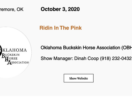 🚩Approved ABRA Show October 3, 2020 in Claremore, OK! 🚩