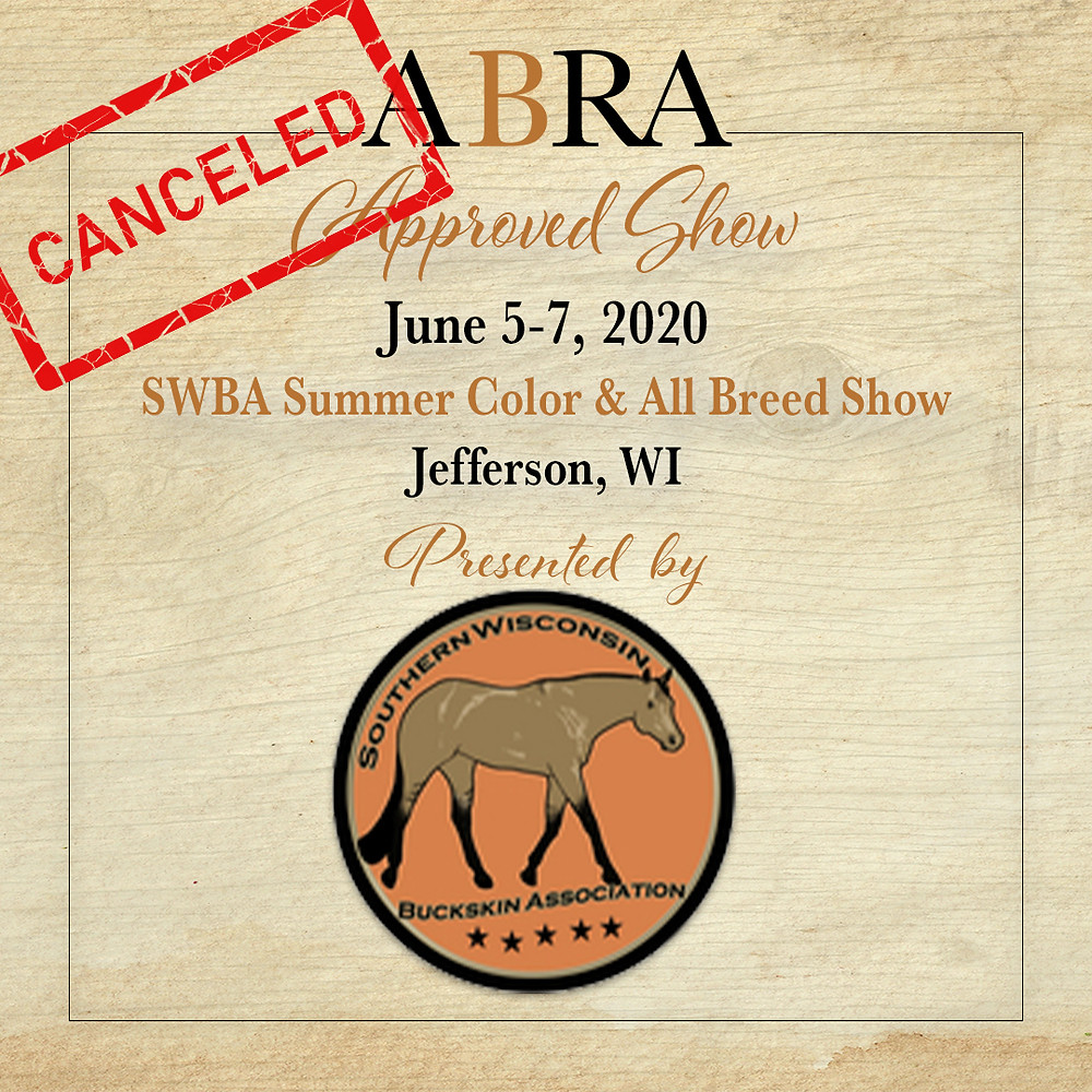 SWBA canceled horse show