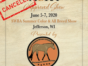 CANCELED - SWBA Summer Color & All Bred Show, June 5
