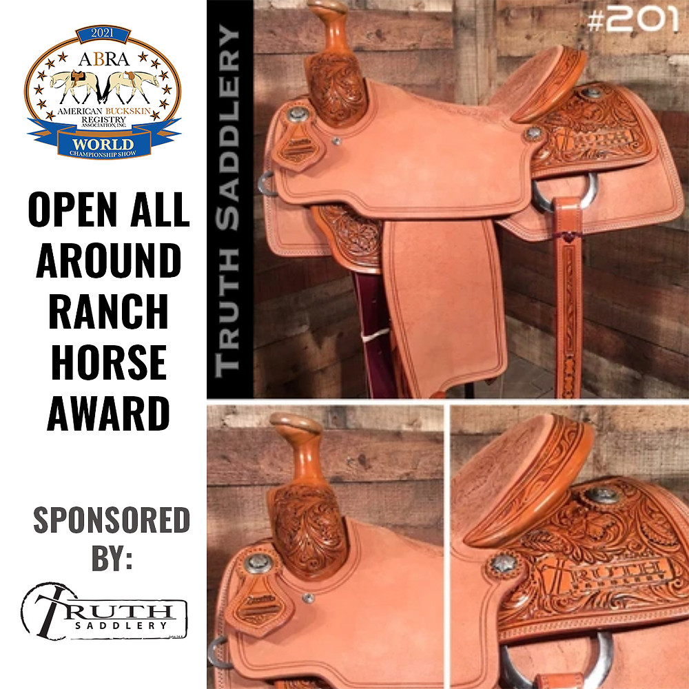 Ranch horse award saddle