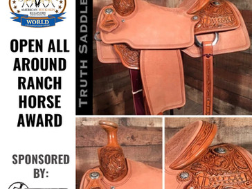 Open All-Around Ranch Horse Award Sponsored by Truth Saddlery