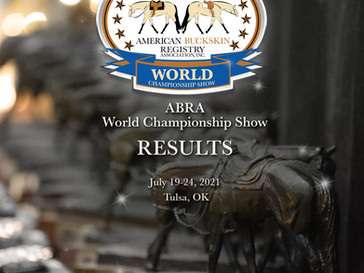 2021 World Show Results