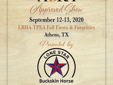 Approved ABRA Show September 12-13, 2020 in Athens, TX