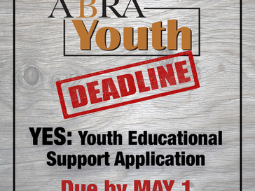 ABRA Youth Deadline for YES Program - May 1st