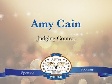 Thank You World Show Sponsor - Amy Cain!
