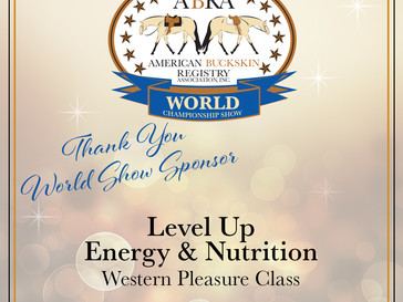 Thank You World Show Sponsor, Level Up Energy & Nutrition!