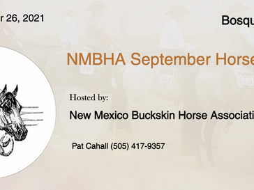 September 26 Approved Horse Show in Bosque Farms, NM