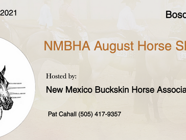 August 8 Approved Horse Show in Bosque Farms, NM
