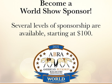 Become a World Show Sponsor!🏆