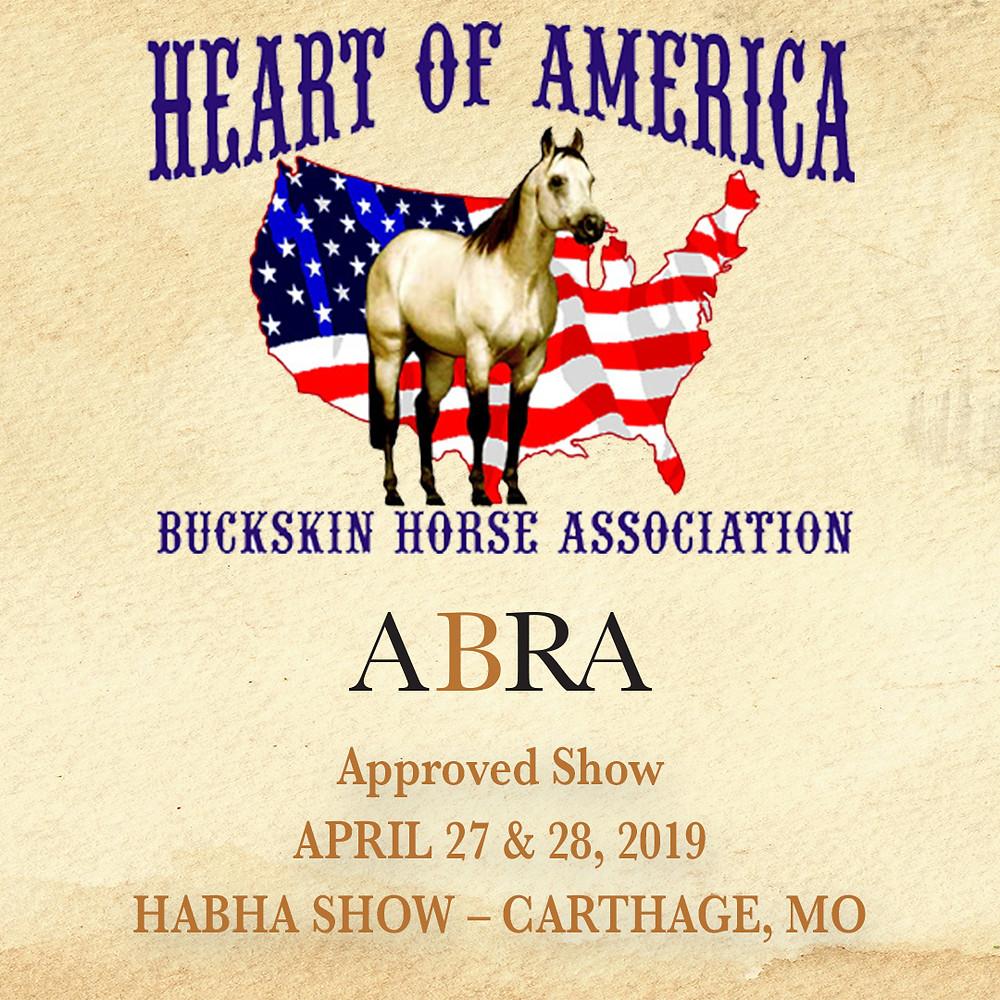 Heart of America Buckskin Horse Associ. logo