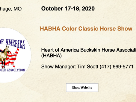 🚩Approved ABRA Show October 17-18, 2020 in Carthage, MO! 🚩