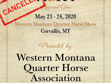 CANCELED - WMQHA May Show- Approved ABRA Show May 23!