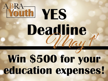Attention ABRA Youth Members! Win $500 for Your Education Expenses!