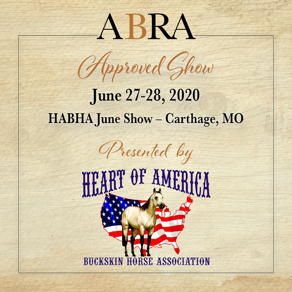 HABHA Approved ABRA Horse Show