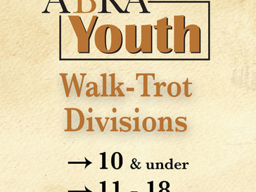 Youth Walk-Trot: Now with Two Age Divisions