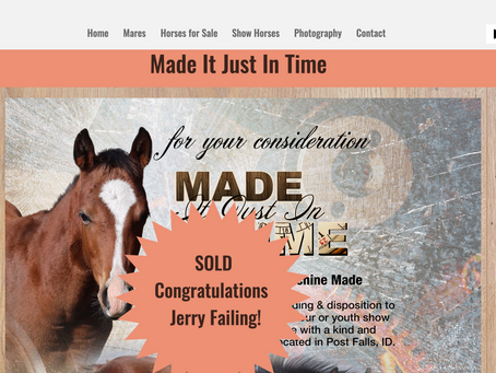 Congratulations to Jerry Failing - Made Just In Time Sold!