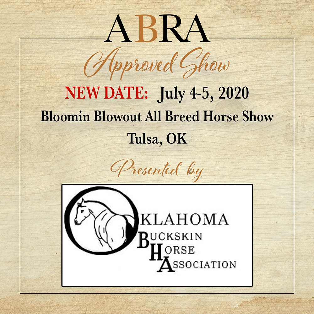 OBHA rescheduled horse show