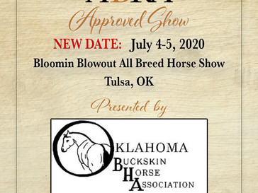 OBHA April Canceled Horse Show Rescheduled to July 4-5