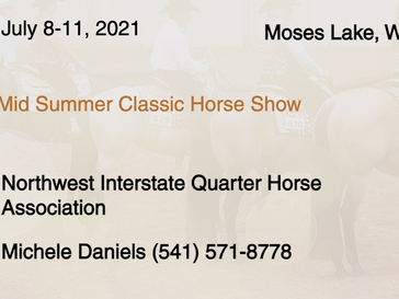 July 8-11 Approved Show in Moses Lake, WA