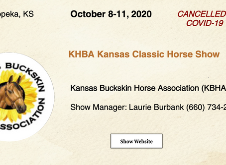 🚩 Cancelled - Oct 8-11 KBHA Horse Show 🚩