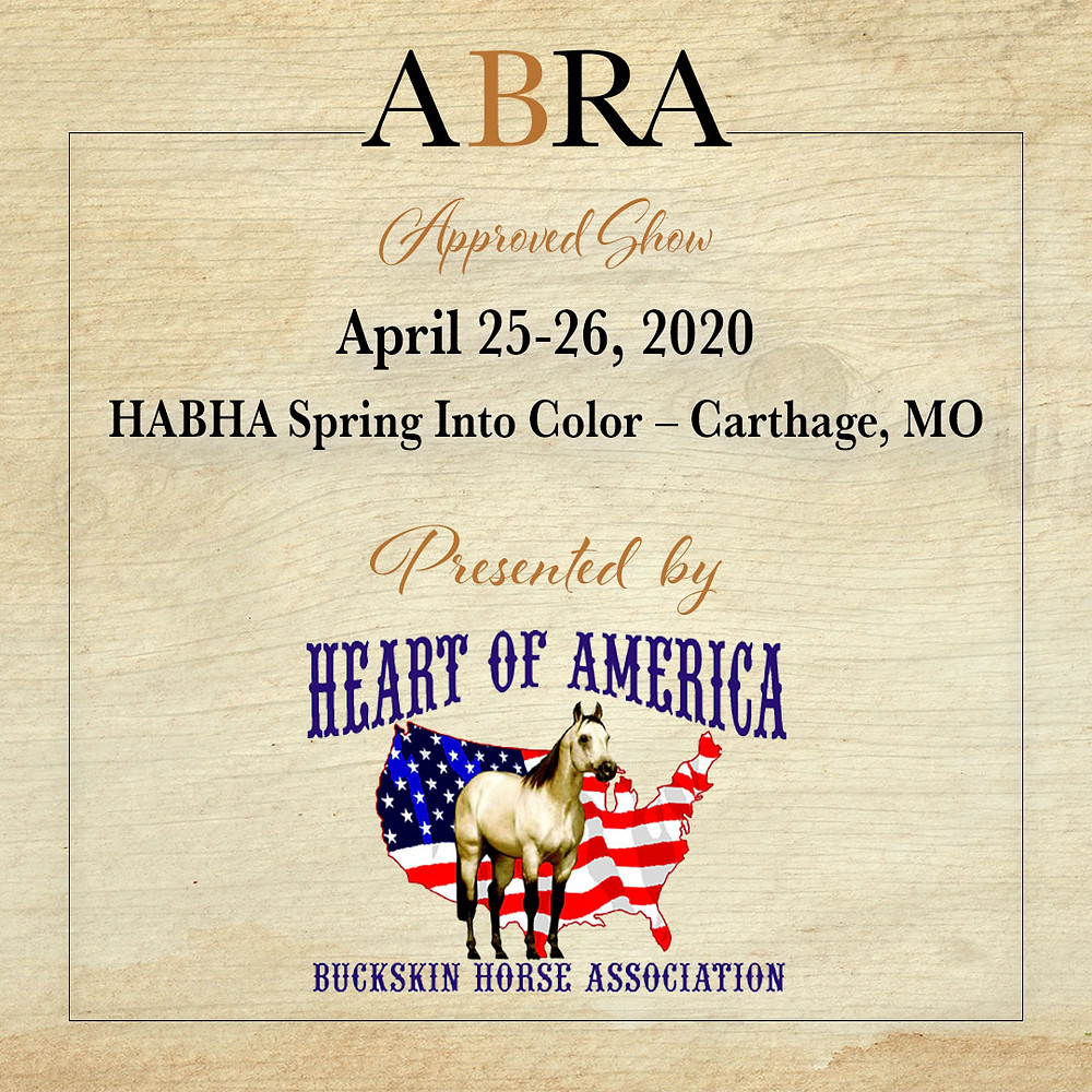 HABHA Sprint Into color ABRA approved horse show